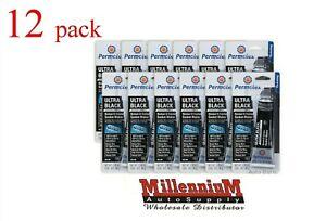 Ultra Black Maximum Oil Resistance RTV Silicone Gasket Maker (3.35 oz.) 12 Pack