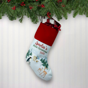 Personalised My First Christmas Xmas Stocking Babys 1st Christmas 2021