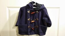Hartstrings Baby Boys Blue Fleece Coat Jacket 18 M Month Corduroy Plaid Boutique