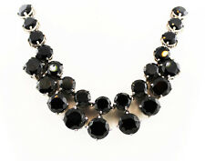 Thai Black Spinel Necklace, 20 in. Sterling Silver