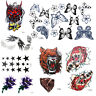 10x Sexy Tattoo Temporary Art Decal Body Arm Stickers Black Removable Waterproof