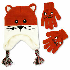 ABG Accessories Kitty Critter Hat & Glove Cold Weather Set, Little Girl, Age 4-7