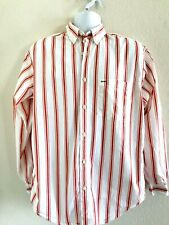 Tommy Hilfiger Vintage Men Striped Long Sleeve Button Down Shirt Mens Medium