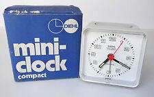 Diehl mini-clock compact Wecker Tischuhr Schreibtischuhr Reisewecker grau