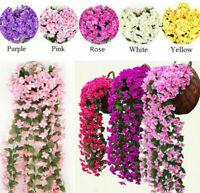 Artificial Fake Hanging Flowers Vine Plant Home Garden Indoor Outdoor  Decor AU