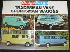 1972 Dodge Fargo Vans Folder Sales Brochure CDN