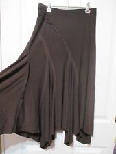 LADIES BROWN LONG FLARED SKIRT SIZE S CHRISTOPHER ARI