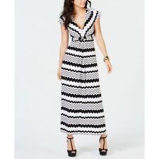 Thalia Sodi Women's Printed Maxi Dress Black/White Size Medium