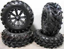 "MSA Black Kore 14"" UTV Wheels 27"" Swamp Lite Tires Kawasaki Mule Pro FXT"