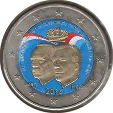 LU20014.4 - LUXEMBOURG - 2 euros commémo. Colorisée Couronnement Grand-Duc 2014