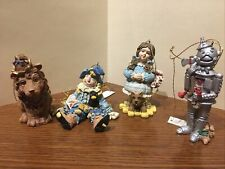 "Roman Set of 4 Wizard of Oz Ornaments-Dorothy, Tinman, Lion, Scarecrow 3"" High"