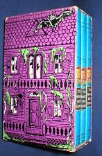 HARDY BOYS~1977 CREEPY PURPLE HOUSE BOX SET~VOLUMES 1, 2 + 3 ~ FRANKLIN W. DIXON