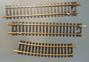 Vintage 2-6 inch and 1-1/2 18 Radius Snap Track Brass HO Scale USED LOT 3
