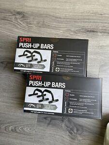 BRAND NEW Spri Push Up Bars Foam Handgrips Weights Fitness FREE SHIPPINGSealed