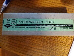 "NEW ""A T F"" 24 Point - KAUFMAN BOLD - Caps - Series 657 - Letterpress Type"