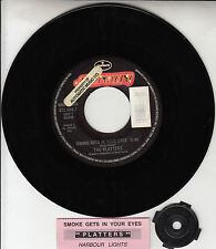 THE PLATTERS Smoke Gets In Your Eyes & Harbour Lights 45 record + juke box strip