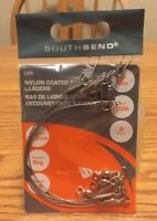 SOUTH BEND ❤️Nylon Coated Steel Leaders New Size 6in Test 20lb 6pc