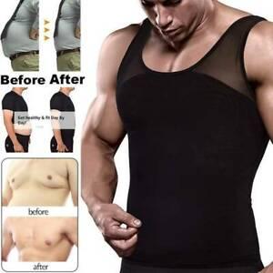 Gynecomastia Chest Compression Shirt to Hide Man Boobs Moobs Shaper Men Slimming