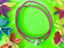 PANDORA Honeysuckle pink leather bracelet -  ** Size 2 ***NEW*