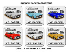 VALIANT VF  225 HEMI   PACER     SET OF 6    RUBBER DRINK  COASTERS