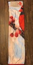NWT Walmart Photo Real Plush Throw Winter Red Cardinal Berry Holiday 50x60 Thin
