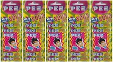 5x Pack Of 8 PEZ Sour Mix Flavour Refill Sweets For PEZ Dispenser (40 Refills)