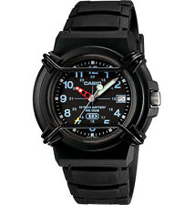 Casio HDA600B-1BV, Analog Watch, Black Resin Band, Date, 100 Meter WR
