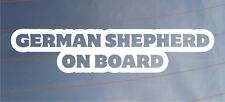 GERMAN SHEPHERD ON BOARD Car/Van/Window/Bumper Sticker - Ideal for Dog Owners