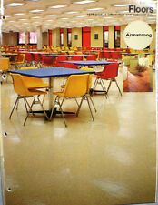 1979 Armstrong Flooring Catalog VINYL EXCELON Tile ASBESTOS DUST WARNING !!