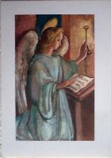 1950 Sacra Angelo - dis.Adelina Zandrino ediz.Arti Grafiche Alinari Baglioni