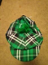 St. Patrick's Day Green Plaid Golf Hat With Pom Pom