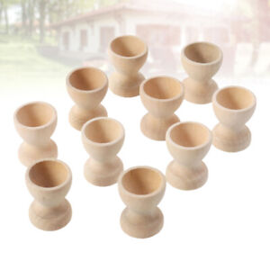 20pcs Easter Wooden Egg Holder Kids DIY Eggs Tray Tabletop Holding Cups Containe