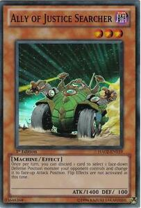 Yu-Gi-Oh Yugioh Ally of Justice Searcher HA02-EN019 Super 1st Near-Mint!