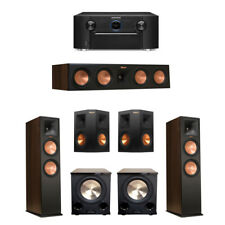 Klipsch 5.2 Walnut System with 2 RP-280F Tower Speakers BRAND NEW  FULL WARRANTY