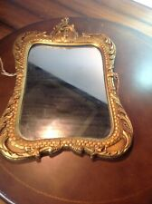 Vintage Ornate Carved Gold Painted Wooden Mirror