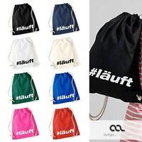 Turnbeutel #läuft Hashtag Hipster Beutel Tasche Baumwolle Gymbag Autiga®