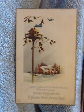 Vintage Postcard Speed A Thought By Bluebirds Gay To Wish You A Merry Christmas