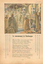 Coronation Carolus Magnus Couronnement de Charlemagne Noël 800 Rome Roma 1933