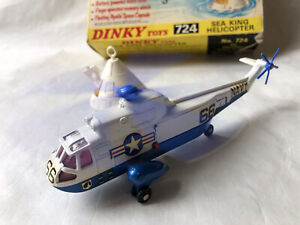 WORKING DINKY TOYS US NAVY WESTLAND SIKORSKY SEA KING SAR RESCUE HELICOPTER BOX