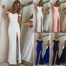New Womens Off Shoulder Casual Long Maxi Evening Party Cocktail Beach Dress
