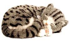 Gray Tabby Cat Life Like Stuffed Animal Breathing Cat Perfect Petzzz