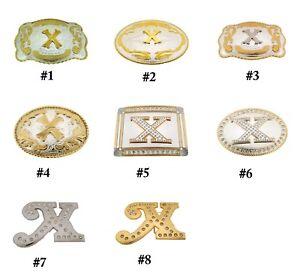Initial Letter X Belt Buckle Alphabet Monogram Western Cowboy Multiple Style New