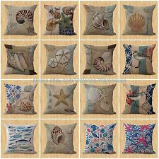 lot of 15 wholesale throw pillow case nautical starfish turtle decorative pillow
