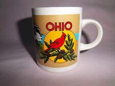 """Mini Cup Mug Cappuccino Espresso """"The Buckeye State"""" Ceramic 4 oz. Cup Souvenir"""