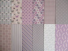 "Dovecraft Back to Basics Berry Blush 12 sheets 6x6""  Scrapbook backing Papers"