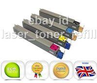 Remanufactured toner cartridges for Oki C711WT White, Cyan, Magenta, Yellow