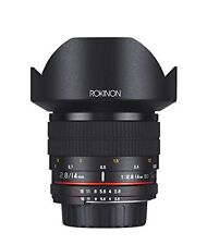 Rokinon 14mm f/2.8 IF ED UMC Ultra Wide Angle Fixed Lens w/ Built-in AE Chip ...