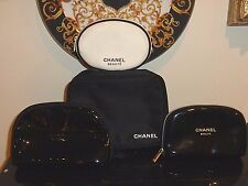 Chanel Beaute Set Of 4 Cosmetic Pouches / Makeup Bags