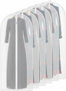 Garment Bag Clear,54 Inch Long-Dress Moth Proof Garment Bags Dust Cover White