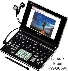 SHARP Electronic Dictionary Brain PW-GC-590-B High School Student Learning Model